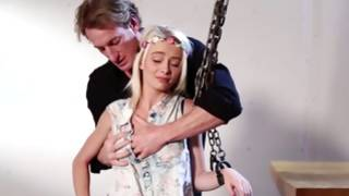 Wrathful BDSM sexual intercourse with massive horrible man