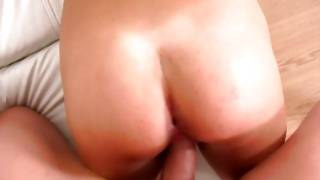 Brown-haired vicious slut is engulfing heavy sausage