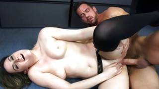 Nasty porn star is blowing his kinky ramrod