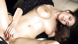 Gorgeous dark-haired babe in supreme solo performance